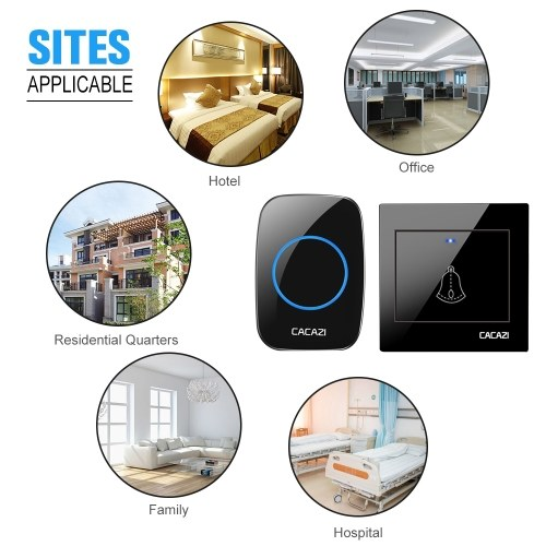 Doorbell wireless home long-distance intelligent waterproof electronic large board one drag one remote doorbell pager type 86