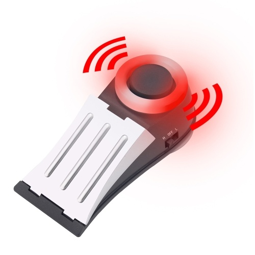 Door stop window vibration alarm