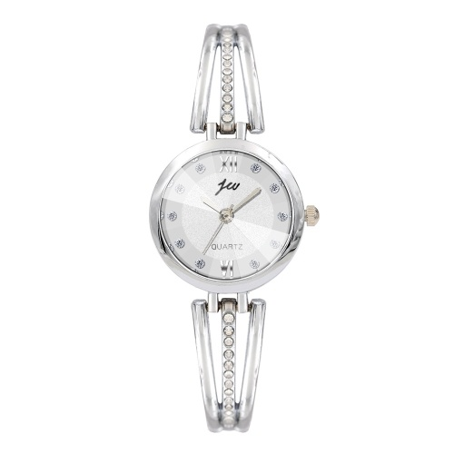 Nuovo orologio da polso da polso in lega da donna punto di diamanti orologio da tavolo inglese fabbrica diretta spot argento all'ingrosso
