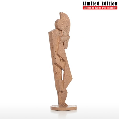 Tuba Player Creative Home Decoration Sandstone Texture Feeling Crafts Abstract Character Sculpture Living Room Furnishings