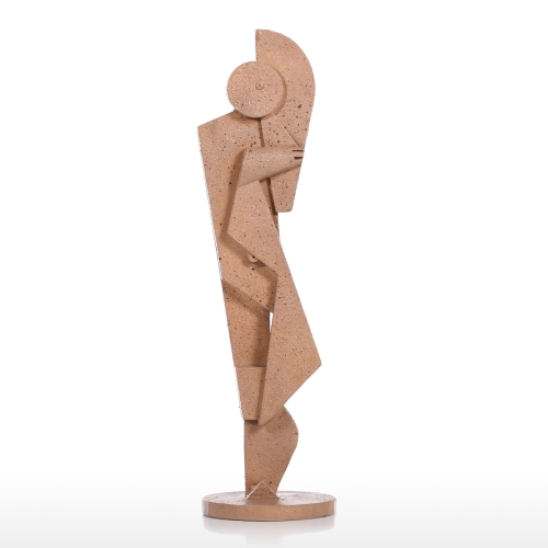 Tuba Player Kreatywne dekoracje do domu Tekstury piaskowca Uczucie rzemiosła Abstrakcyjne rzeźby charakteru Meble do salonu