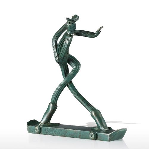 Terakotowa Wojownik - Skateboarder Tomfeel Fibreglass Sculpture Dekoracja Domowa Oryginalny Projekt Terakotowa Wojownik