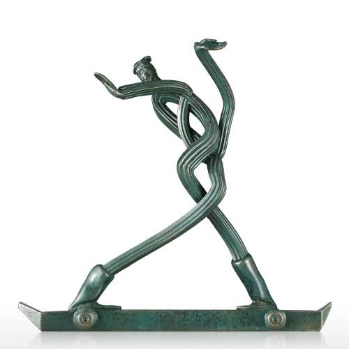 Terracotta Skateboarder Original Design Fiberglass Sculpture