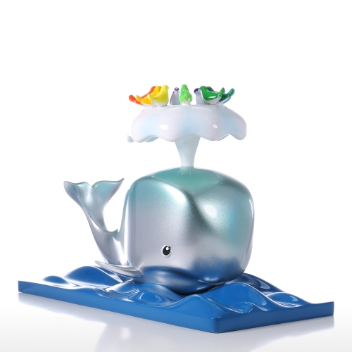 Tomfeel Whale & Bird Resin Sculpture Home Decor Modern Art
