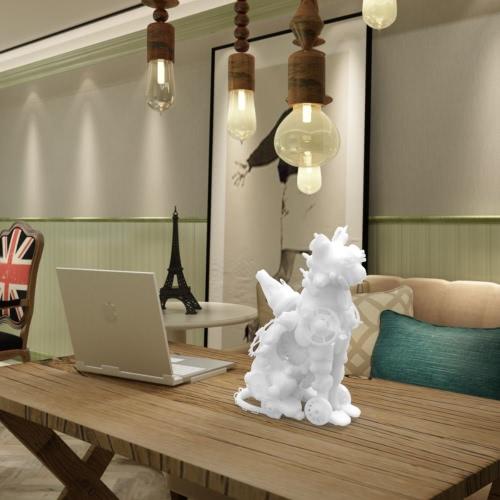 Механик Cat 3D Печатные скульптуры Домашнее украшение орнамент Tomfeel