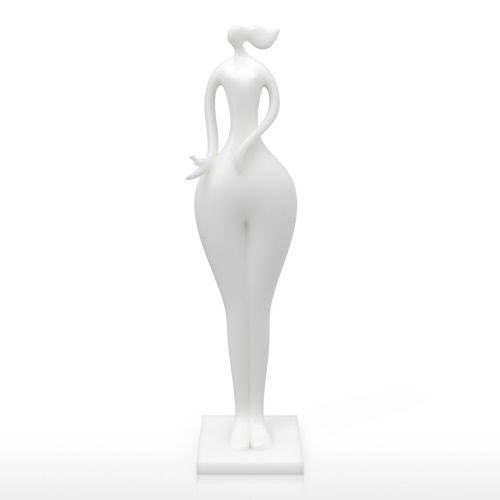 Mantenga Bird muchacha Tomfeel 3D Escultura Impreso decoración del hogar de modelado elegante