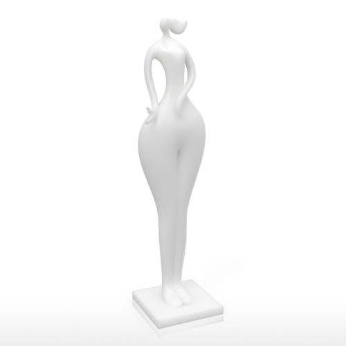 Hold Bird Girl 3D Imprimé Sculpture Décoration d'intérieur Modélisme élégant