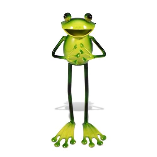 Tooarts Metal sculpture  Frog shaped sculpture   Home decoration handicrafts