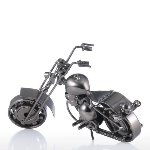 Eisen-Kunst-Motorrad Tooarts Hauptdekoration Handwerk Metall-Skulptur Moderne Skulptur Handwerk Kunstwerk Geschenk