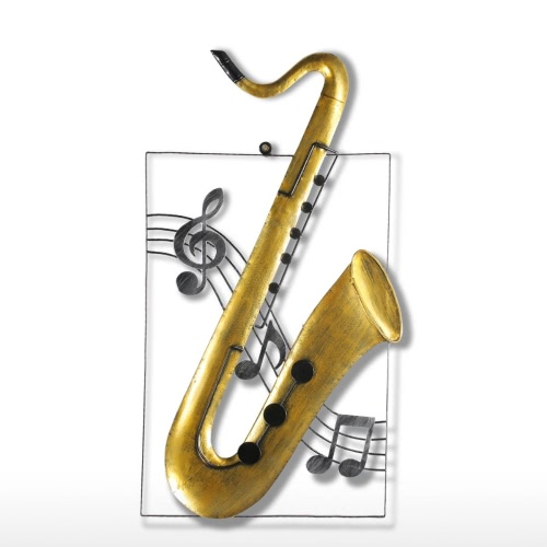 Tooarts Saxophone Hanging Ornament Home Decor Wall Hangings Decor Music Instrument Craft