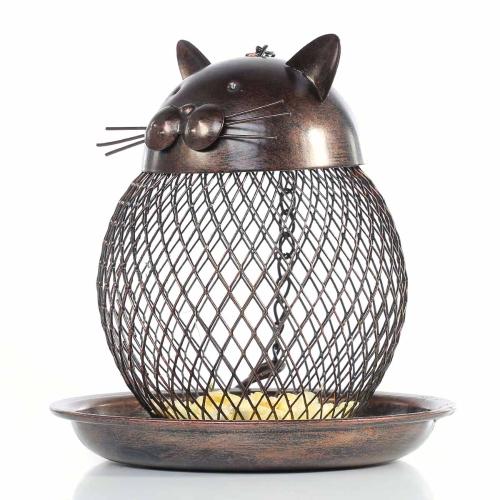 Katzenförmige Vogelhäuschen Katzenförmige Vintage handgefertigte Außendekoration Villa Gartendekoration