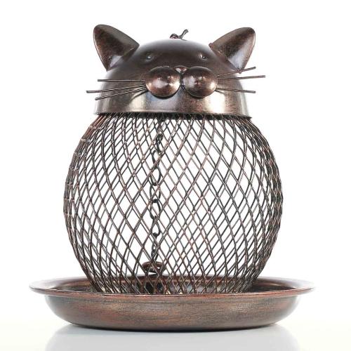 Katze geformt Vogelfutter Katze geformt Vintage Handgefertigte Outdoor Dekoration Villa Garten Dekoration