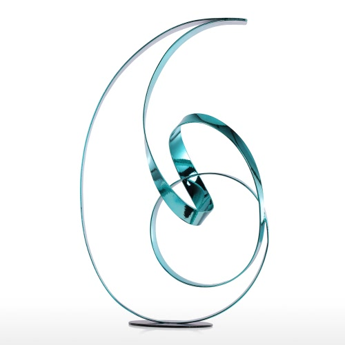 Tooarts The Standing Ribbon Metal Sculpture Modern Sculpture Abstract Sculpture