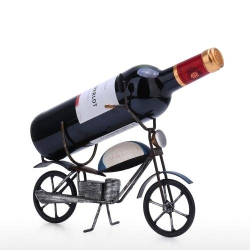 Tooarts Retro Motorcycle Wine Rack Tabletop Art Decoration Creative Wine Rack