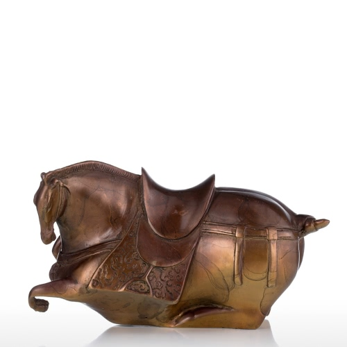 Tooarts Fat Horse Bronze Sculpture Exaggerative Design Animal Horse Copper