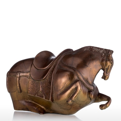 Fat Horse Bronze Sculpture Exaggerative Design Animal Horse Copper