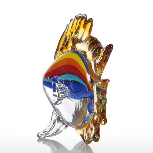 Tooarts Tropical Fish Ciekawa Rzeźba Szkło Home Decor Animal Ornament Gift Craft Decoration
