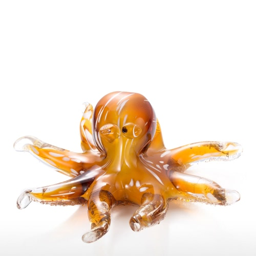 Octopus Glasskulptur Tooarts Home Decoration Glass Octopus