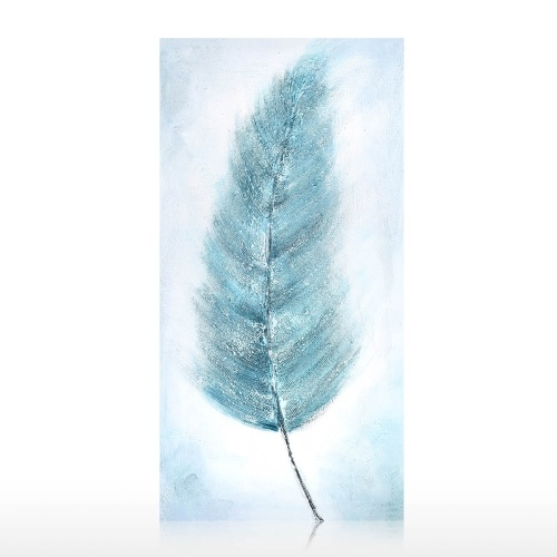 Plume Oil Painting Hand Painted on Canvas Abstract Artwork Hanging Wall Art Decoration