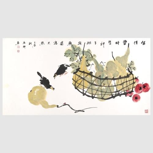 Erntezeit Melone und Obst Malerei Print Wandkunst Dekor 100% Original Handgemalte Kunstwerke für Büro Dekoration Geschenk