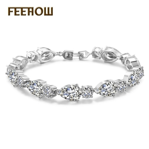 FEEHOW Amazon Explosion models Europe and America Shining Zircon Bracelet