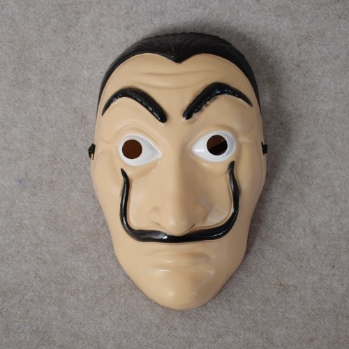 Foreign explosions trade La casa de papel card house Dali mask