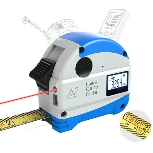 30M Laser Rangefinder + 5M Anti-fall Steel Tape Metric and Inch Tape measure High Precision Distance Meter