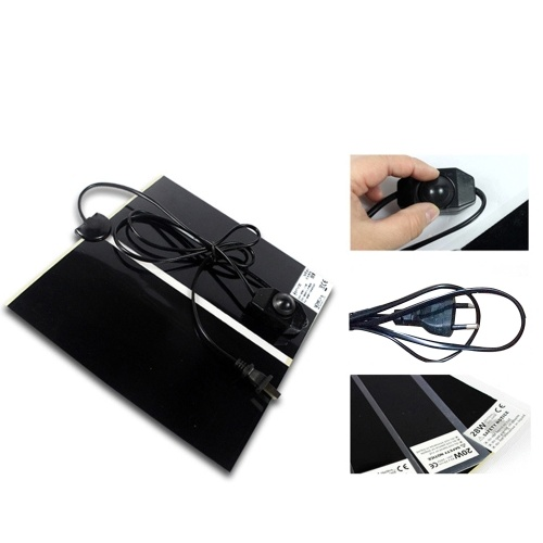 35W Pet Heating Mat Electric Heating Pad Warming Mat for Reptiles Pet Supplies