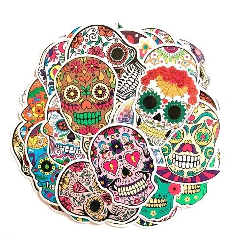 50 Unids Magic Color Scary Skull Sticker