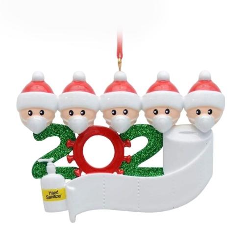 Christmas Ornament Santa Claus Snowman Design Xmas Tree Hanging DIY Decoration Deco