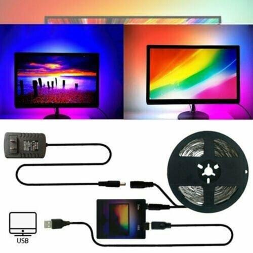 La lumière d'arrière-plan de synchronisation d'écran d'affichage d'ordinateur 5M change automatiquement la lumière de chaîne de couleur