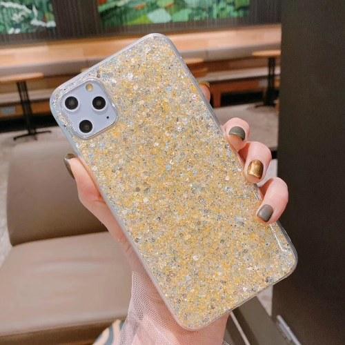 Подходит для мобильного телефона iphone11pro небольшой свежий порошок эпоксидная смола Apple XSMAX новый 8plus защитный рукав 7 Золото iphone11 6.1 дюймов фото