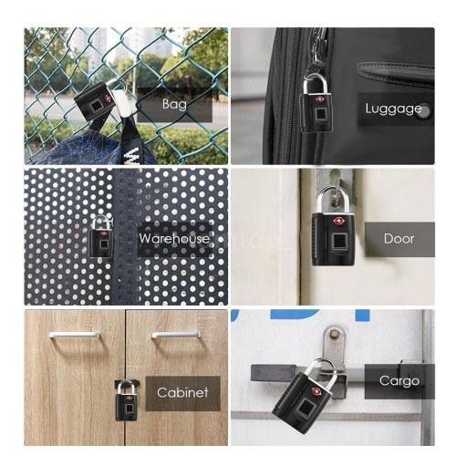 Смарт-ключ без ключа отпечатков пальцев замок TSA утвержден замок Смарт-ключ без ключа сенсорный биометрический разблокировать водонепроницаемый для дорожного багажа сумки чемоданы USB зарядки