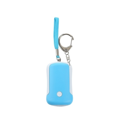 Self Defense Alarm 130dB SOS Emergency Personal Safety Alarm Keychain Scream Loud with LED Flashlight for Girl Women Kids Elderly Explorer, White&Blue, 1 pack