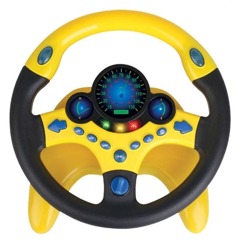 Children Imitate Copilot Simulated Driving Steering Wheel