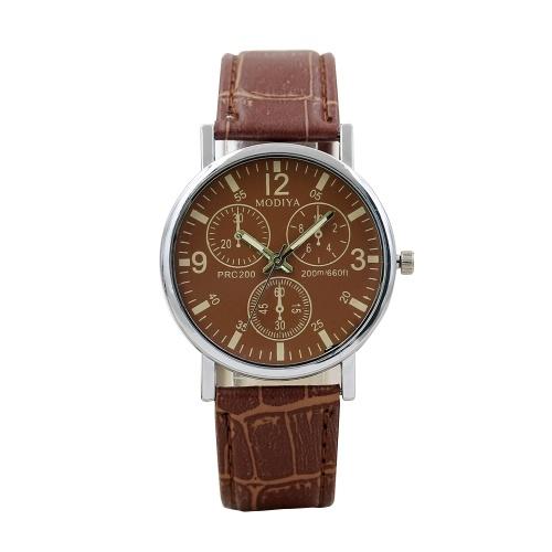 Modelli di esplosione Cintura da uomo in vetro Blu-ray per orologi al quarzo moda orologio da uomo orologio da uomo regalo fabbrica all'ingrosso marrone