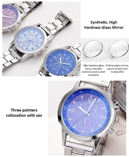 Image of Blu-ray Glas Drei-Augen-Stahlgürtel Uhr Männer Explosionen Geschenke Geschenke Männer Uhren Männer und Männer Uhren Großhandel weiß