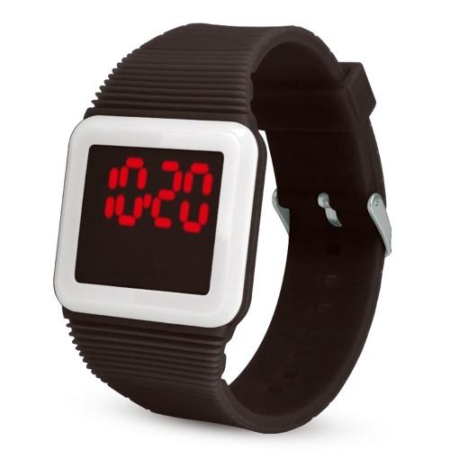 Orologio digitale a LED in silicone Orologio da polso ultrasottile per studenti Adolescenti Adolescenti Bambini Uomini Donne