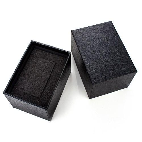YAZOLE Watch Box Organizer Single Black Box Watch Packaging Boxes for Watch Bracelet Jewelry