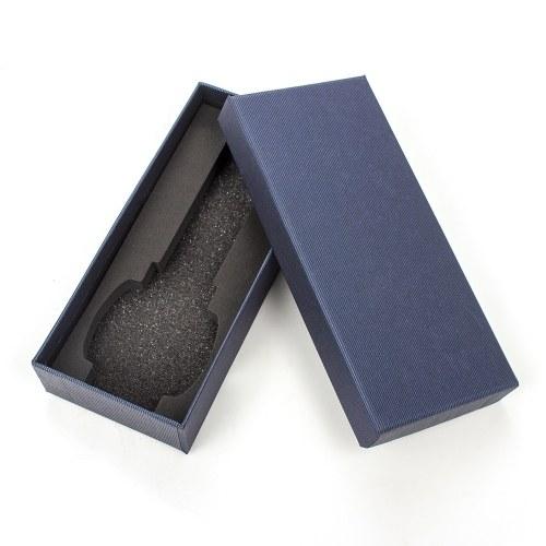 Scatola per orologi YAZOLE Scatola per orologi lunga striscia blu Scatola per imballaggio regalo per gioielli per cinturini per orologi