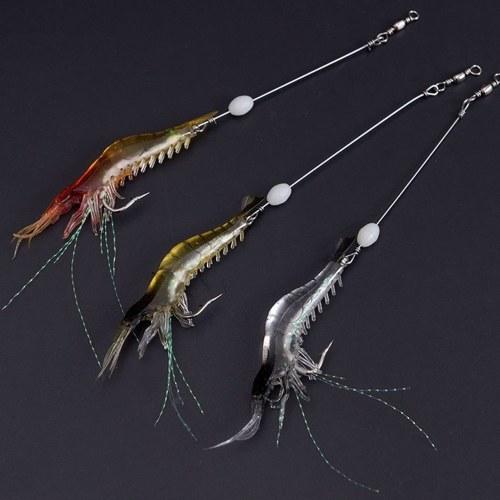 180mm PVC Artificial Isca De Pesca Bionic Soft Isca De Pesca Em Forma De Camarão Em Forma De Camarão Iscas Iscas Camarão Simulação