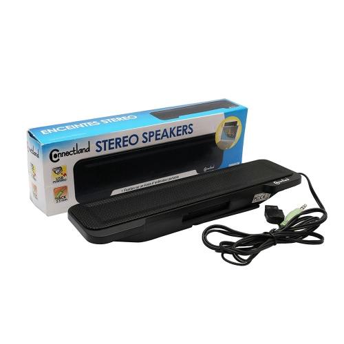 Connectland USB Powered Stereo Stereo Sound Speaker Bar se monta na tela do laptop - CL-SPK20138