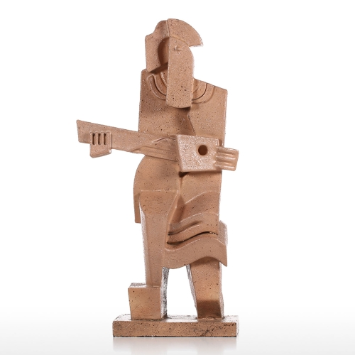 Guitar Player Creative Home Decoration Sandstone Texture Feeling Crafts Abstract Character Sculpture Living Room Furnishings