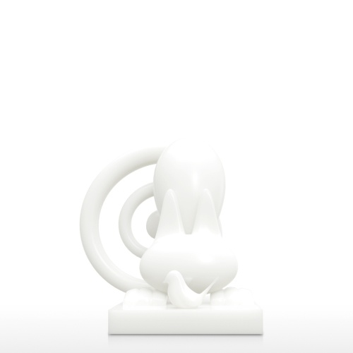 Cat with Bird 3D Printed Sculpture Abstract Animal Figurine Decoration Figurine Decor Collectible