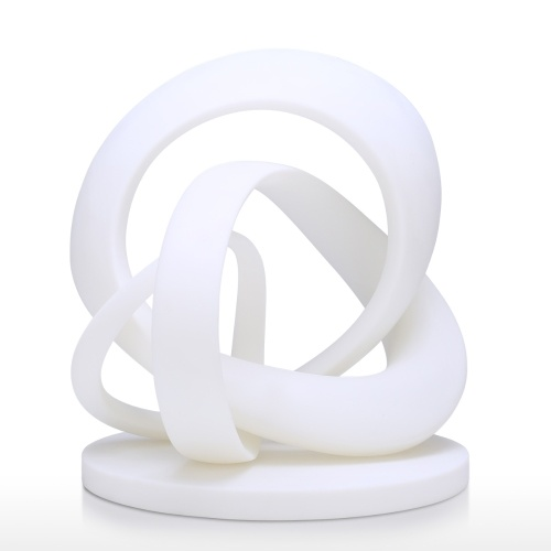 Twirling Abstract Line 3D Impreso Escultura Originalmente diseñado Decoración del hogar Decoración de escritorio Regalo perfecto Blanco
