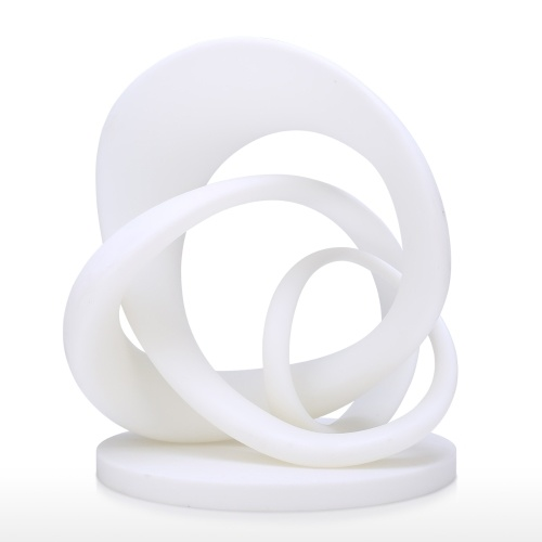 Twirling Abstract Line 3D Printed Sculpture Originally Designed Home Decoration Desk Decor Perfect Gift White