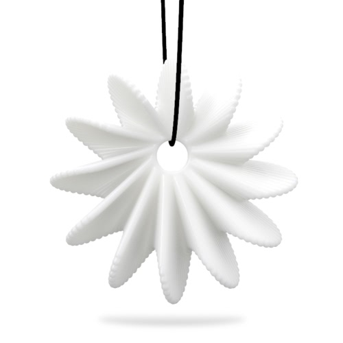 Tomfeel 3D Printed Jewelry Blooming Flower Elegant Modeling Pendant Necklace Accessories