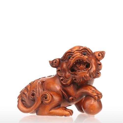 Tooarts Un ensemble de 5 mini-sculptures sur bois différentes Un total de plus de 50 sculptures sur bois sont des sculptures en bois d'animaux emballés au hasard Des collections vintage et exquises Des sculptures sur bois surprenantes