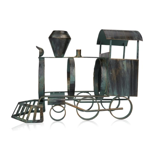 Tooarts Train wine bottle holder Iron art