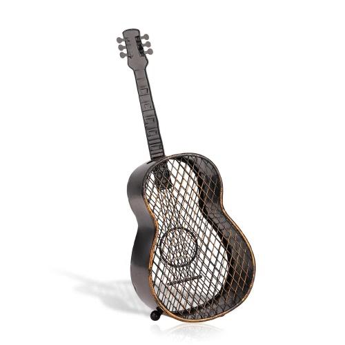 Tooarts Guitarra envase corcho del vino Artesanías de decoración del hogar artesanales adornos prácticos
